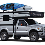 Palomino Backpack Edition Soft-Side Truck Campers (Closed; Shown with optional Roof Rack)