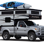 Palomino Backpack Edition Soft-Side Truck Campers (open; Shown with optional Roof Rack)