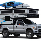 Palomino Real-Lite Soft-Side Truck Campers (Camping Mode; Shown with Optional Roof Rack)