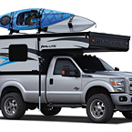 Palomino Real-Lite Soft-Side Truck Campers (Travel Mode; Shown with Optional Roof Rack)