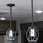Pendant lighting over island