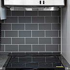 Easy to clean decorative backsplash